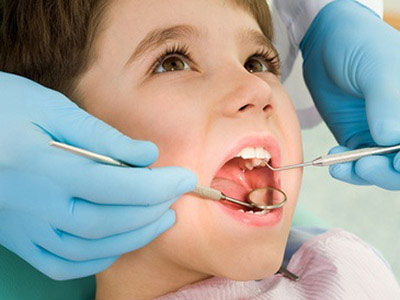 Child at a Pediatric Dentist